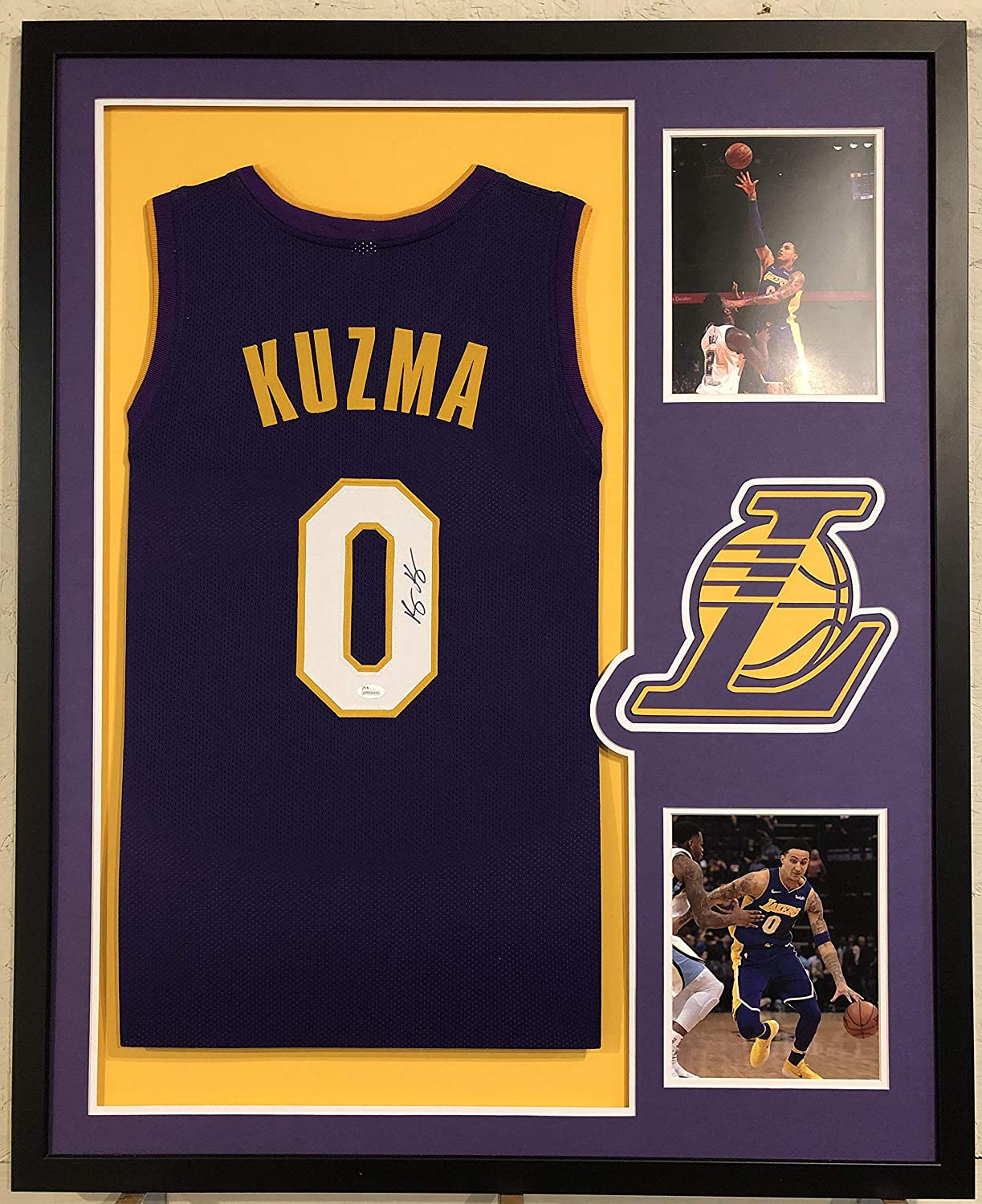 5770a17f11a Kyle Kuzma Autographed Custom Framed Los Angeles Lakers Jersey JSA COA at  Amazon's Sports Collectibles Store