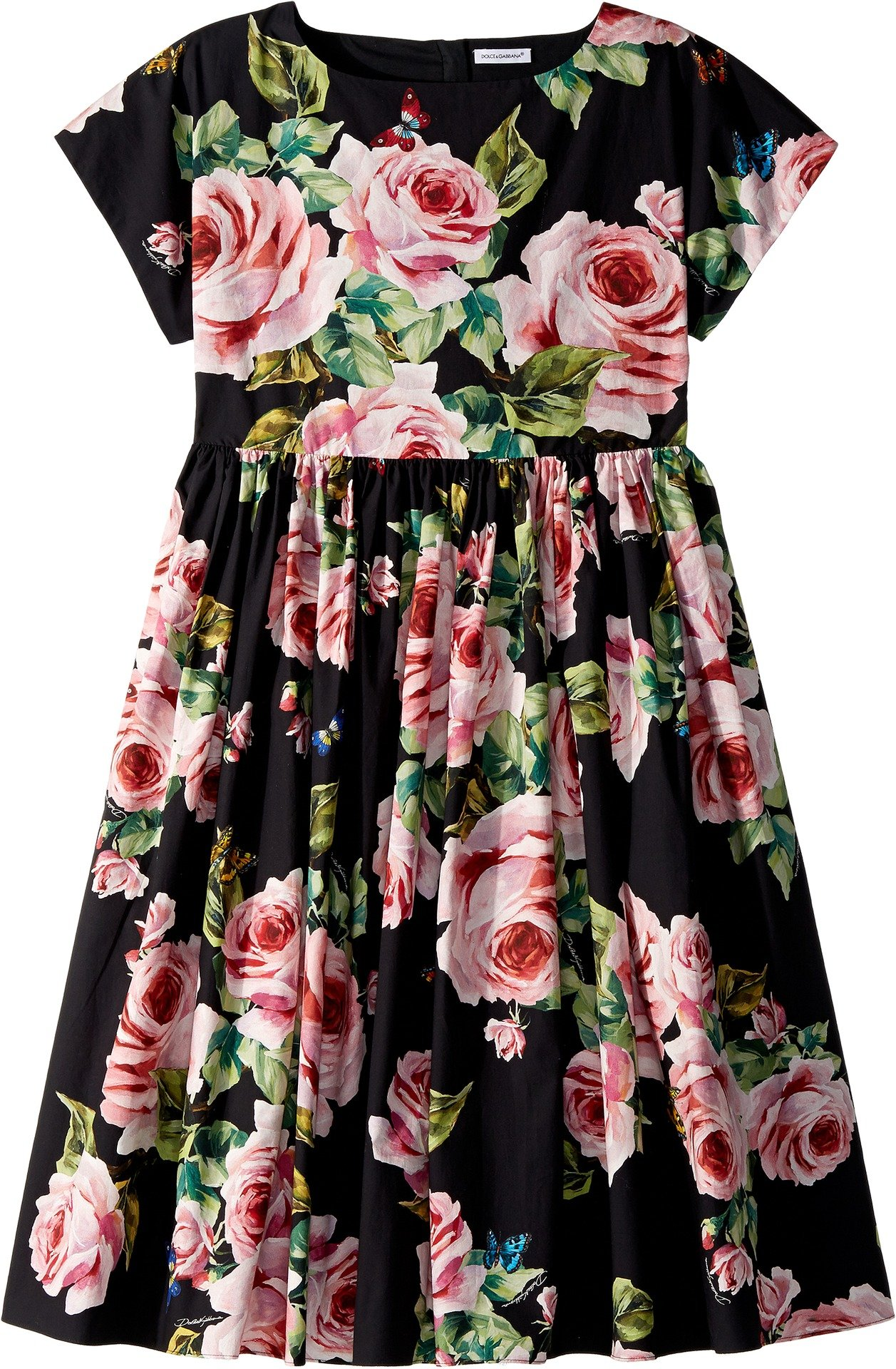 Dolce & Gabbana Kids Girl's Sleeveless Dress (Big Kids) Black Print 10 by Dolce & Gabbana (Image #1)