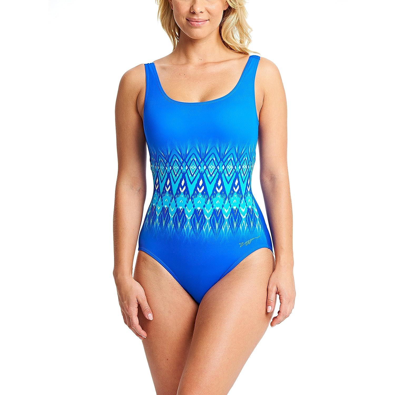 5cc352ebd7509 Zoggs Women's's Aqua Reef Scoopback Swimsuit: Amazon.co.uk: Sports &  Outdoors