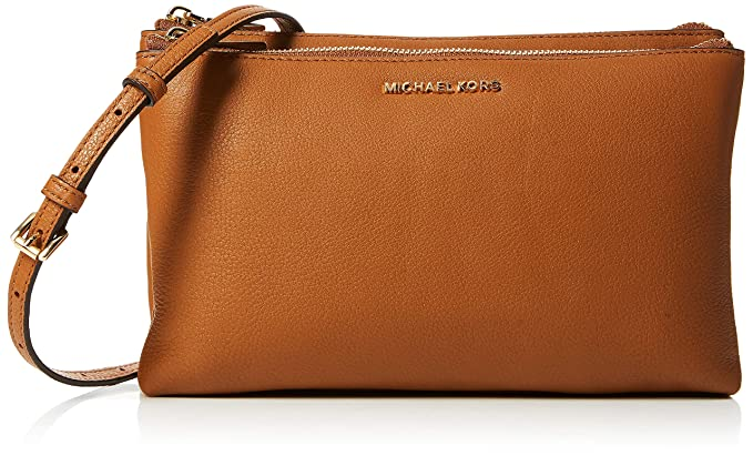 Michael Kors Damen Adele Leather Crossbody Umhängetasche