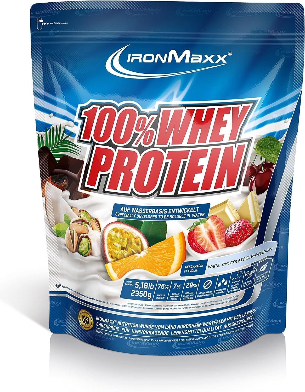 IronMaxx Ironmaxx Sabor Fresa Y Chocolate Blanco 100% Polvo ...