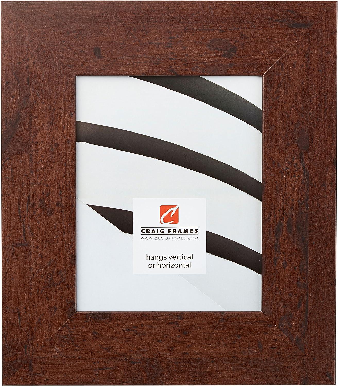 Craig Frames Bauhaus, Modern Dark Walnut Picture Frame, 5 by 7-Inch