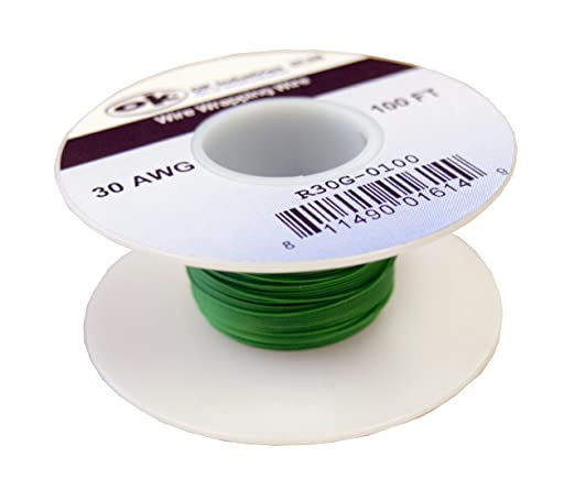 100/' Page 30AWG WHITE KYNAR Insulated Wire Wrap Wire 100 Foot Roll ~ Made In USA