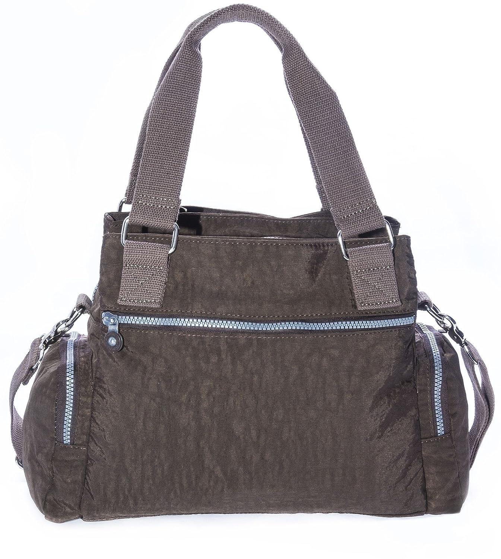 ea23ab0b7f Big Handbag Shop Rainproof Fabric Medium Lightweight Multi Compartment Baby Shoulder  Bag (Black)  Amazon.co.uk  Shoes   Bags