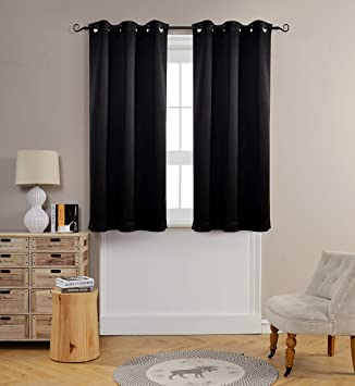 Living Room Curtains amazon living room curtains : Amazon.com: MYSKY HOME Solid Grommet top Thermal Insulated Window ...