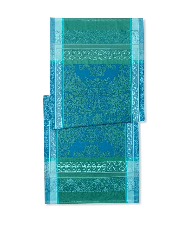 Garnier-Thiebaut Tischläufer ISAPHIRE Grün Sweet emeraude 54 x 149 cm