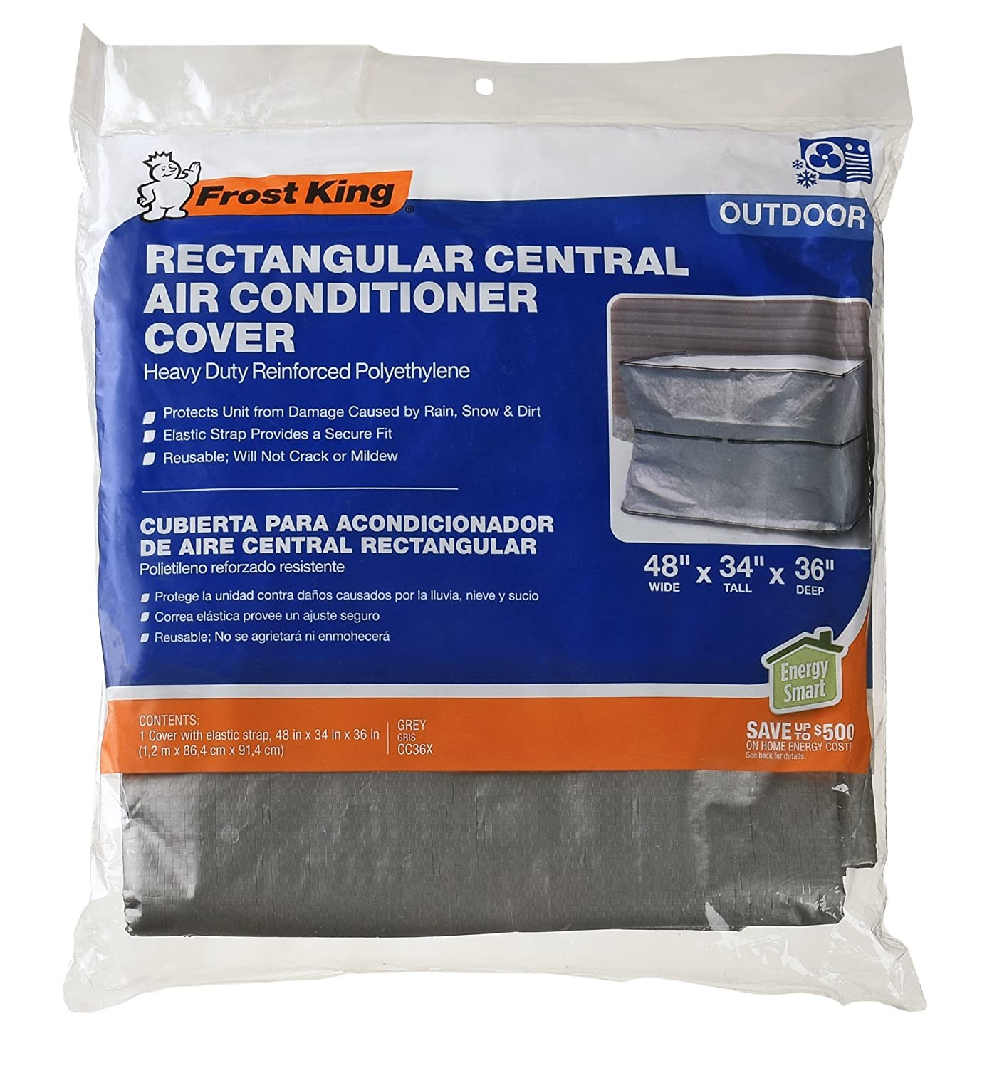 Thermwell CC36XH Rectangle A/C Cover, 36 by 48 by 34 36 by 48 by 34
