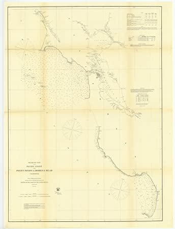 Amazon Com Vintography 8 X 12 Inch 1862 California Old Nautical Map