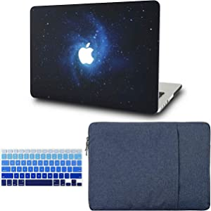"""KECC Laptop Case for MacBook Air 13"""" w/Keyboard Cover + Sleeve Plastic Hard Shell Case A1466/A1369 3 in 1 Bundle (Blue)"""