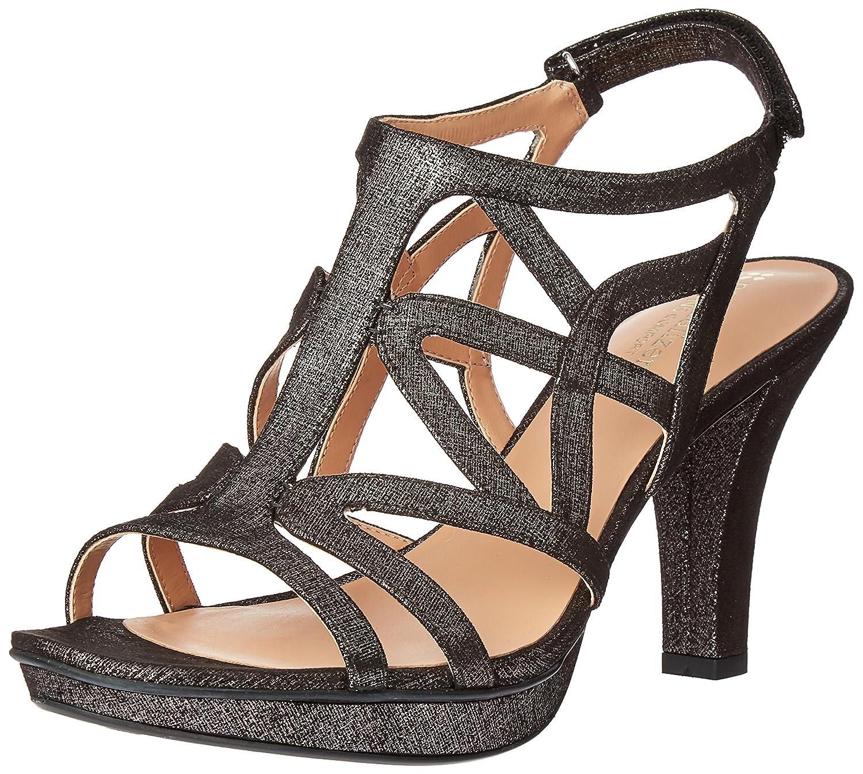 Naturalizer Women's Danya Dress Sandal B019XHHDPK 11 B(M) US|Black/Pewter