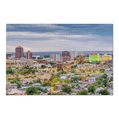 Albuquerque, New Mexico - View of The City at Night 9012782 (Premium 1000 Piece Jigsaw Puzzle for Adults, 20x30, Made in USA!): Toys & Games
