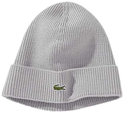 7050940f57 Lacoste Men's Ribbed Beanie with Flap Accessories: Amazon.co.uk: Clothing