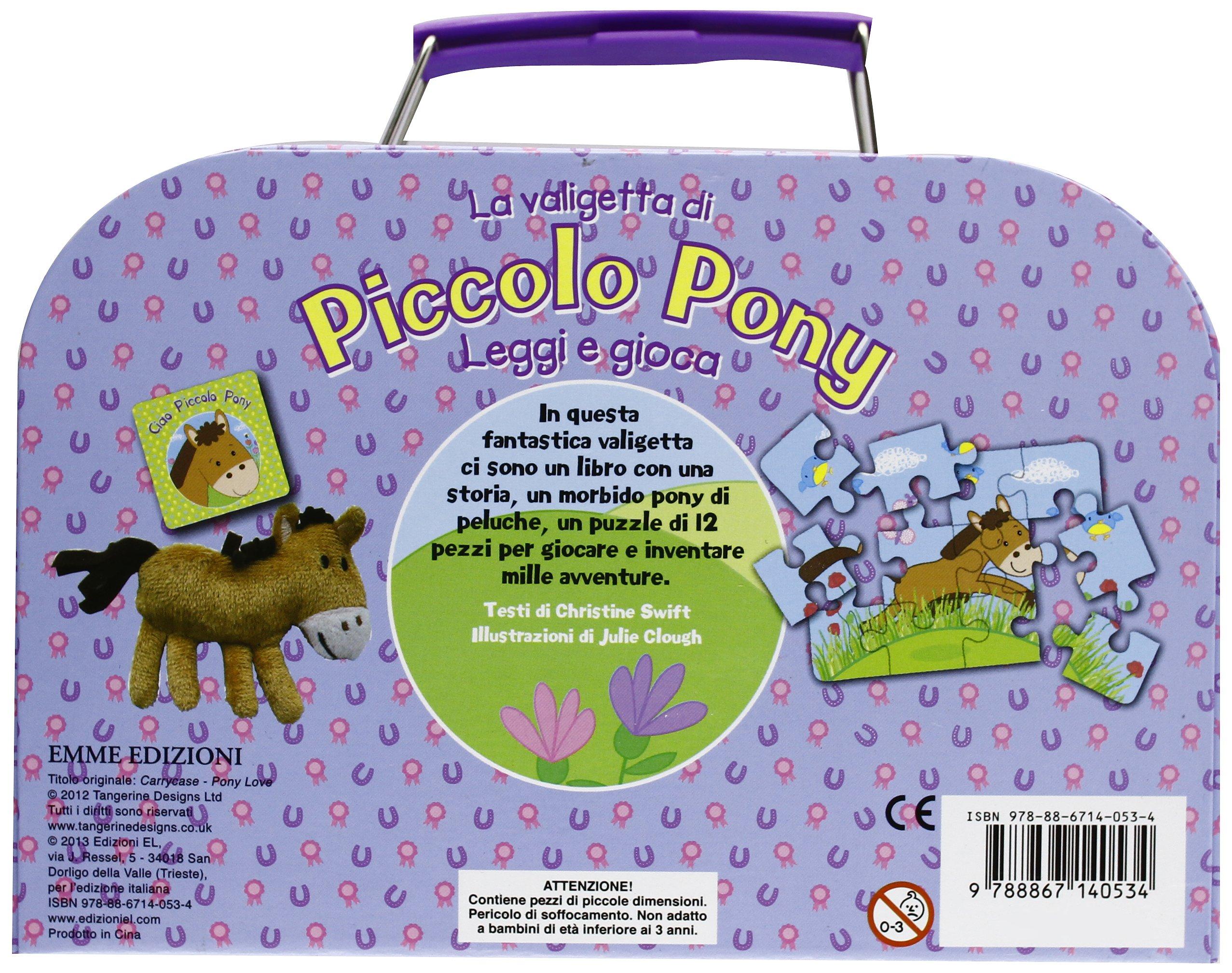 La valigetta del piccolo pony. Leggi e gioca. Con gadget: 9788867140534: Amazon.com: Books