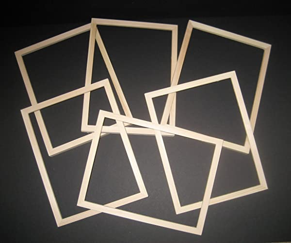 Amazon Unfinished Wood Picture Frames In Lots Of 6 In 58 Wide