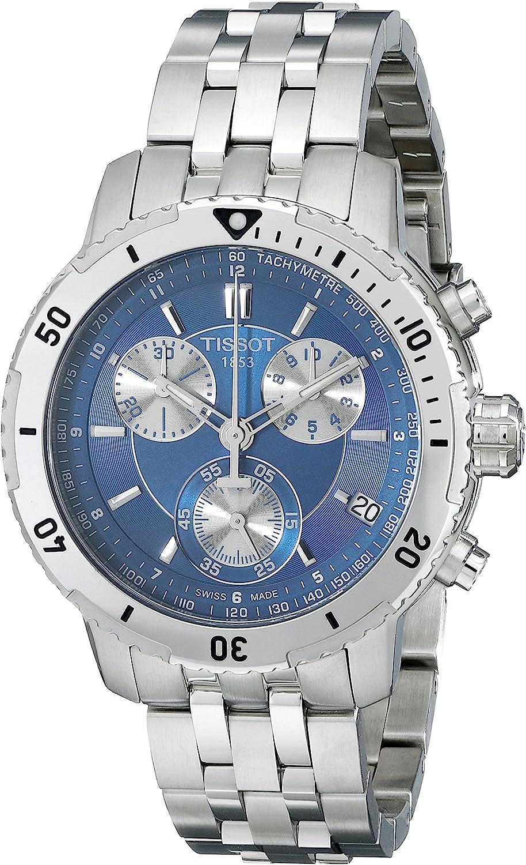 Tissot T0674171104100 - Reloj cronógrafo de caballero de cuarzo con correa de acero inoxidable plateada