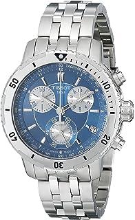 Tissot Mens T0674171104100 PRS 200 Blue Chronograph Dial Watch