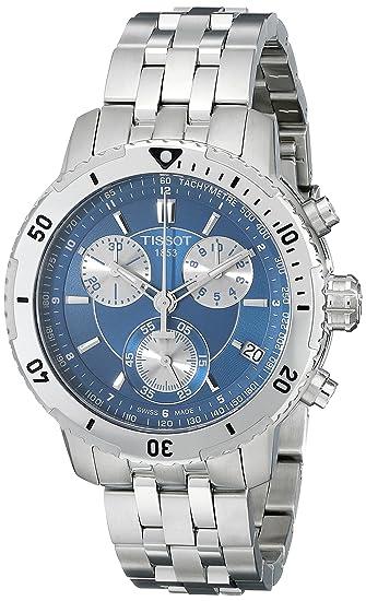Tissot Men S T0674171104100 Prs 200 Blue Chronograph Dial Watch