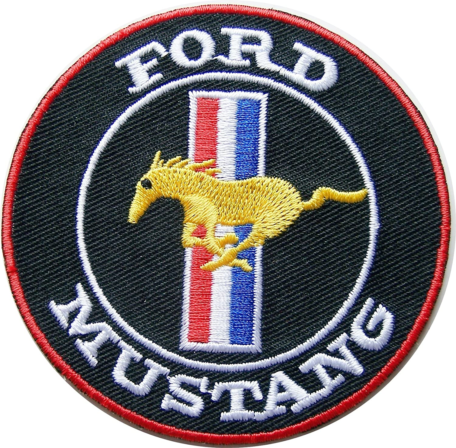 Ford SVT Racing Patch 4 inches Long by 2 inches High Embroidered Iron-On