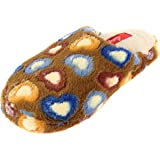 Women's Valentine Heart Colorful Plush Slippers Scuffs