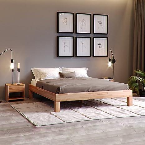 Krok Wood Jana Massivholzbett In Buche Fsc 100 Massiv Natur Geölt Buchebett Günstig Futonbett Massivholz Bett Vom Hersteller 100 X 200 Cm