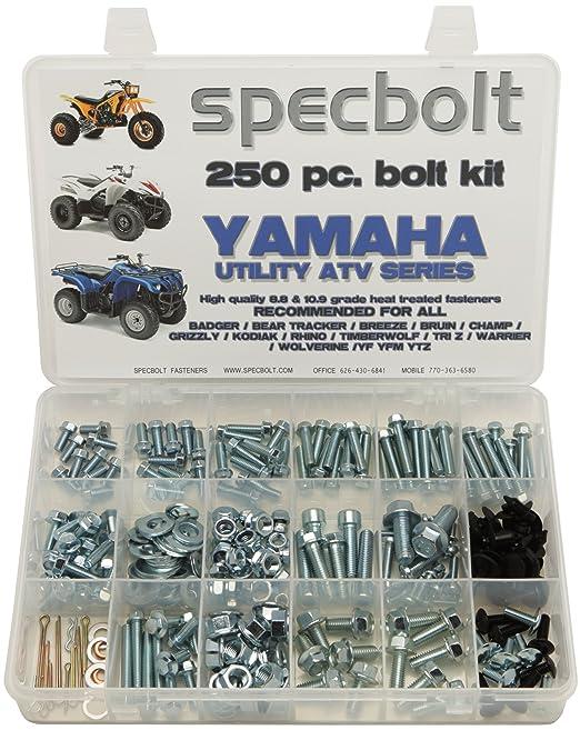 250pc Specbolt Bolt Kit For Yamaha UTILITY ATV Including All Grizzly Warrior Wolverine Big Bear Tracker Breeze Timberwolf Rhino YFM YTZ For