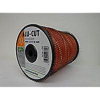 Ratioparts Nylon draad 2,7 mm aluminium cut 240 m trimmerdraad 6-kantige maaidraad, oranje