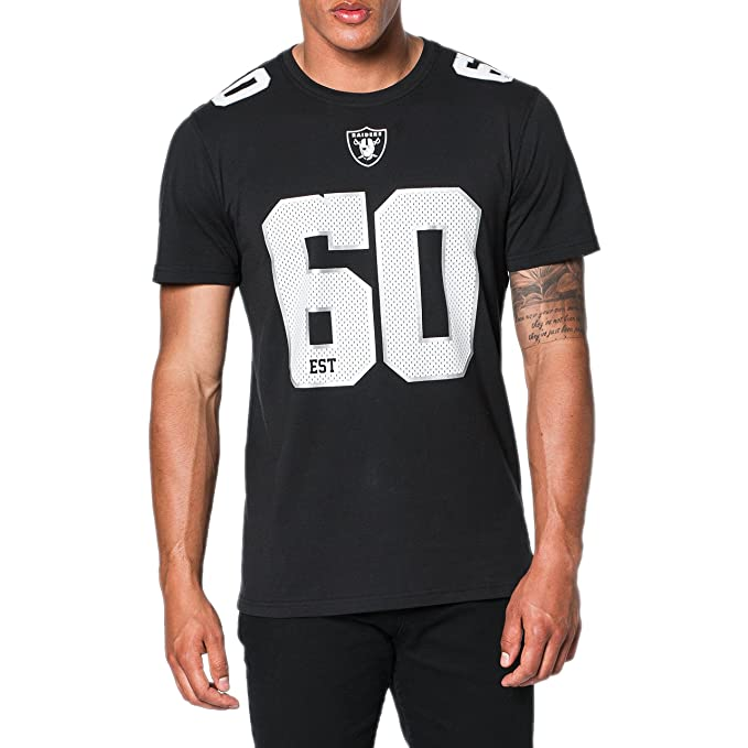 A NEW ERA Camiseta NFL Oakland Raiders Number Classic Negro Blanco Gris  Talla  0a76bf85aa0