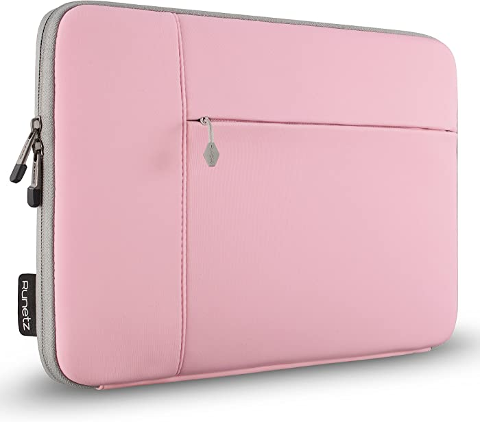 Runetz MacBook Pro 13 inch Sleeve Neoprene MacBook Air 13 inch Sleeve 2017-2012 Laptop Sleeve Notebook Bag Case Cover with Accessory Pocket Older Version Size, Pink