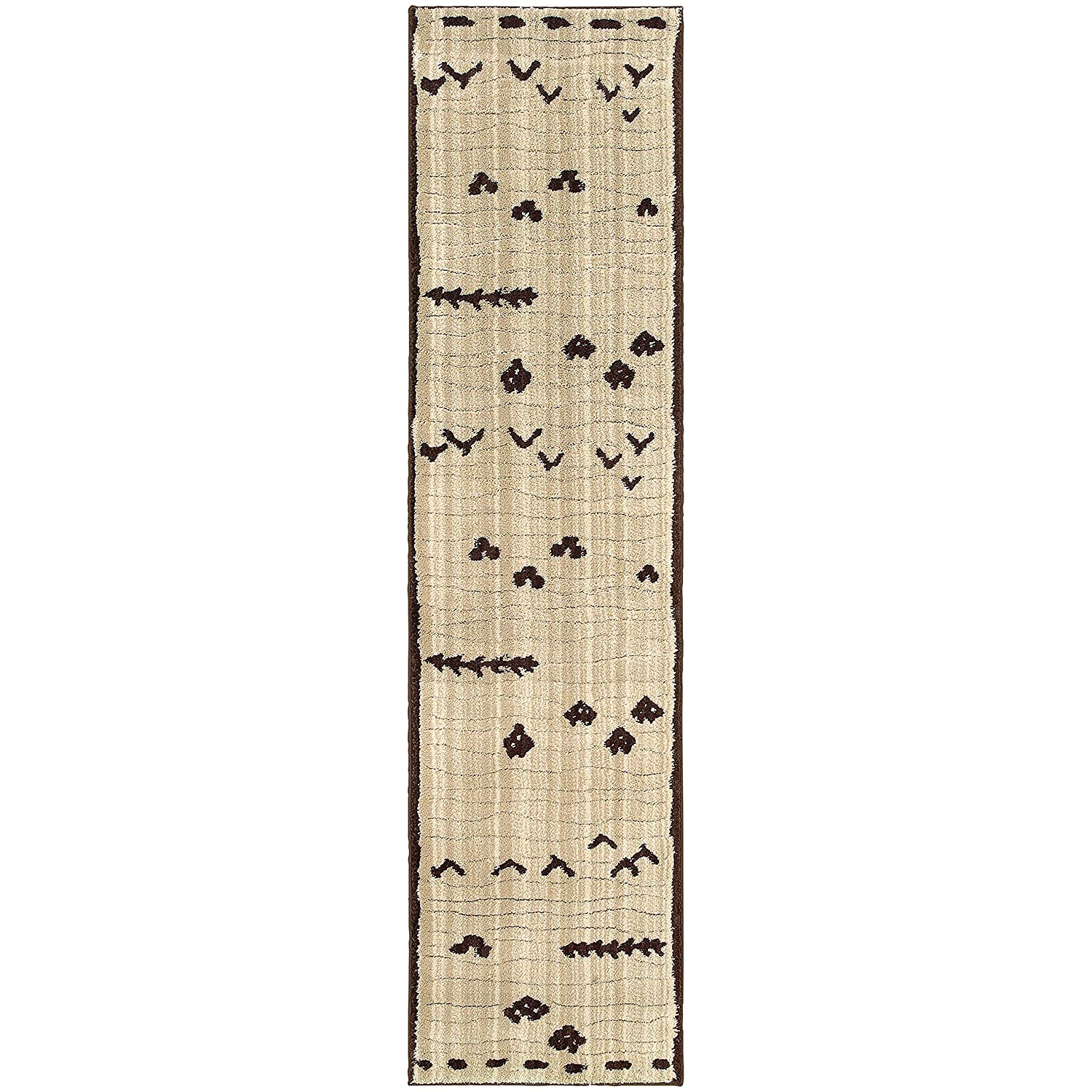 Christopher Knight Home Mesa Indoor Runner 2ft 7in X 10ft Ivory,Brown