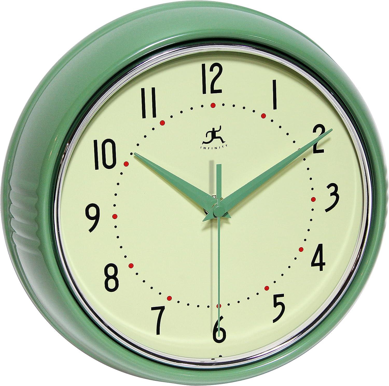 Infinity Instruments Retro Redux Wall Clock Home Kitchen Amazon Com
