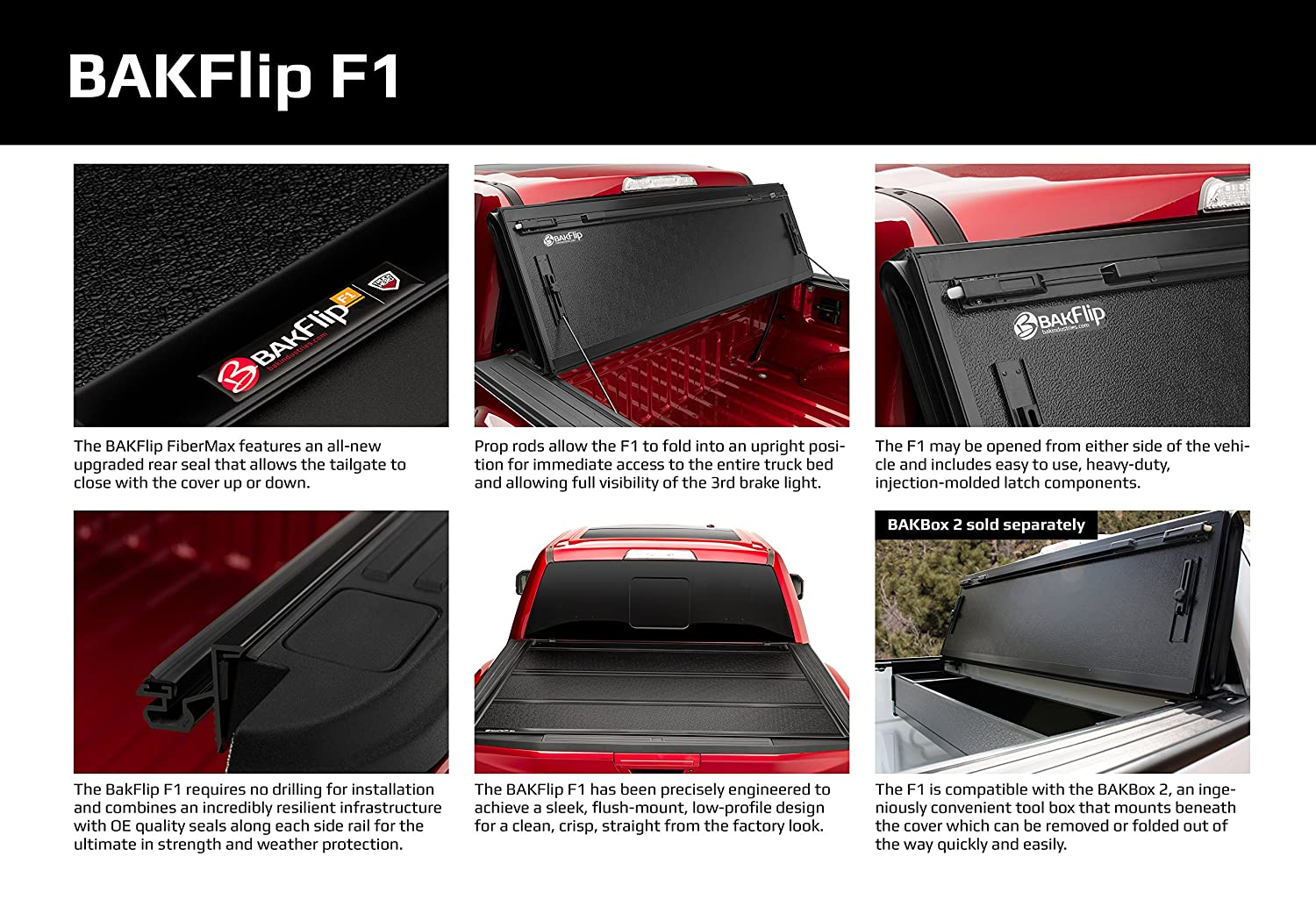 BAK Industries BAKFlip F1 Hard Folding Truck Bed Cover