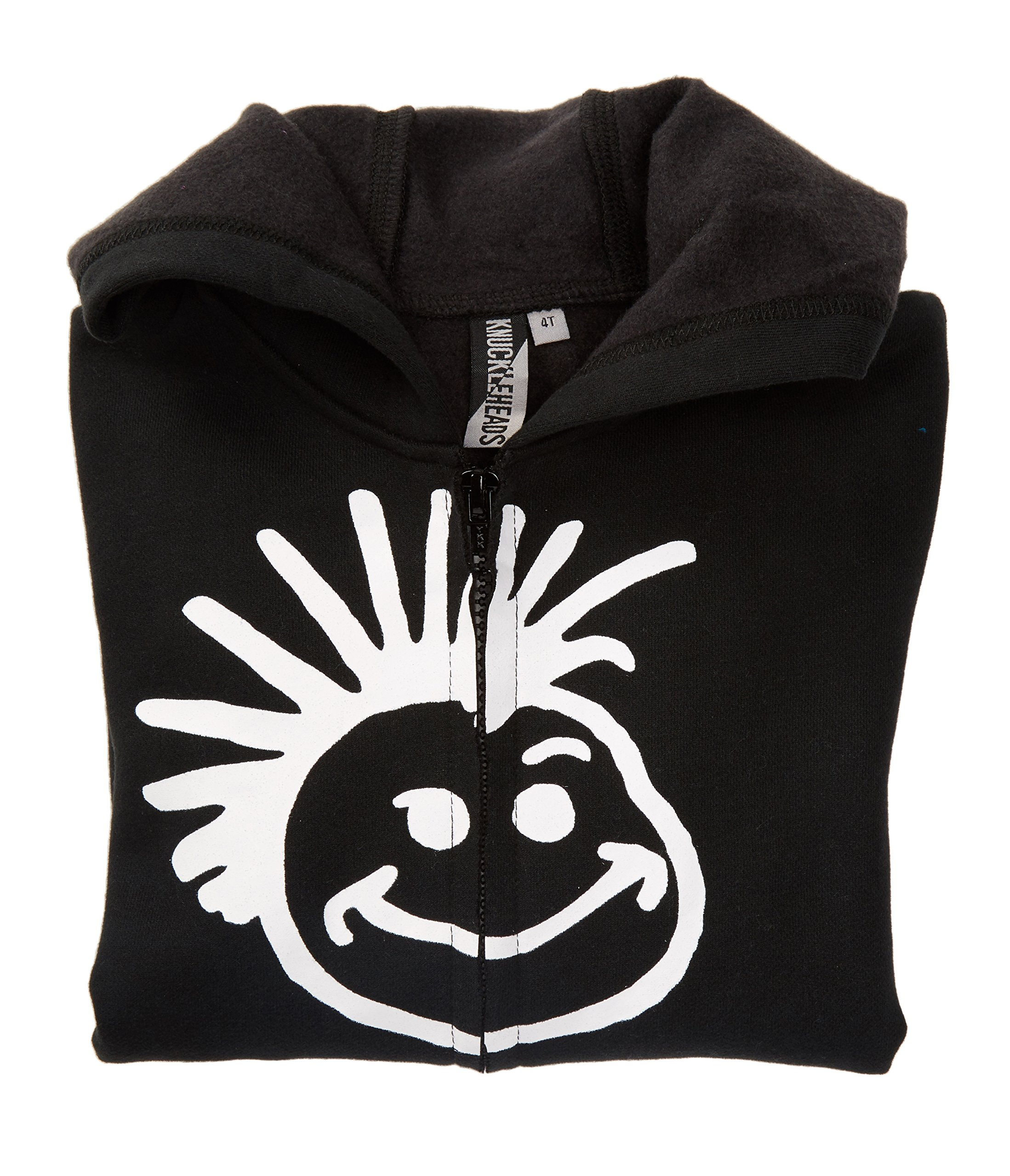 Born to Love Knuckleheads - Toddler Hooded Sweatshirt Boys Black Logo Pullover Zip Up Hoodie (8T) by Born to Love (Image #3)