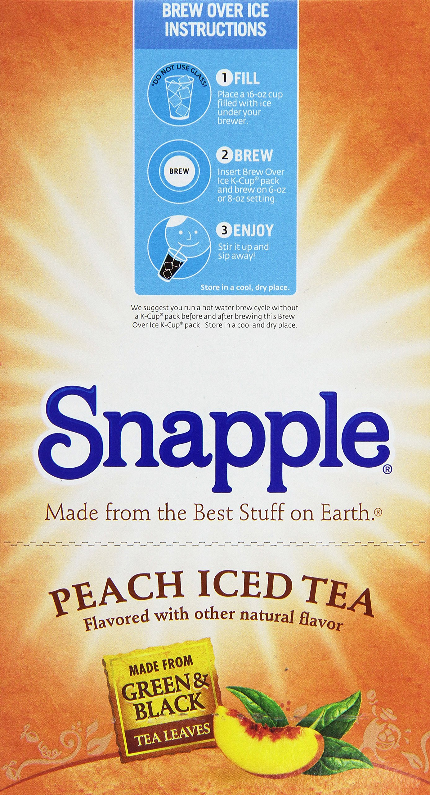 Snapple Peach Tea K-cups, 88-count by Snapple