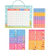pneat Good Behavior Chart | Magnetic Responsibility Chart for Wall or Refrigerator | 51 Chores 60 Magnetic Stars