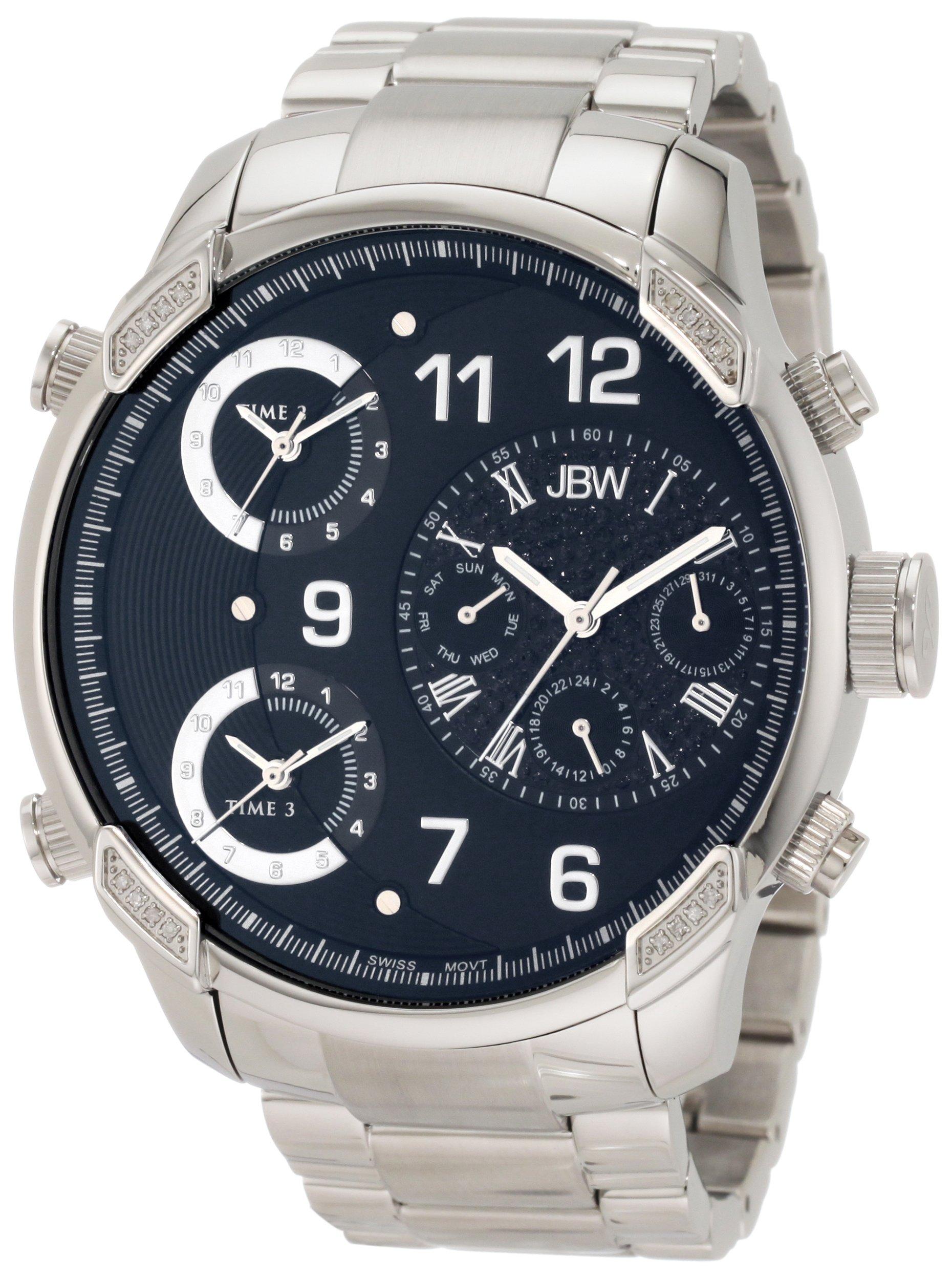 "Jbw Men's J6248B ""G4"" Multi-Time Zone Lifestyle Diamond Watch 6"