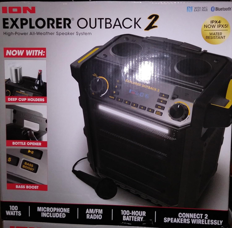 Ion Explorer Outback 2 Bluetooth防水スピーカーシステム ブラック B07DRPF2J5