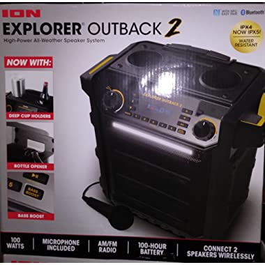 Ion Explorer Outback 2 Bluetooth Water Resistant Speaker System Black