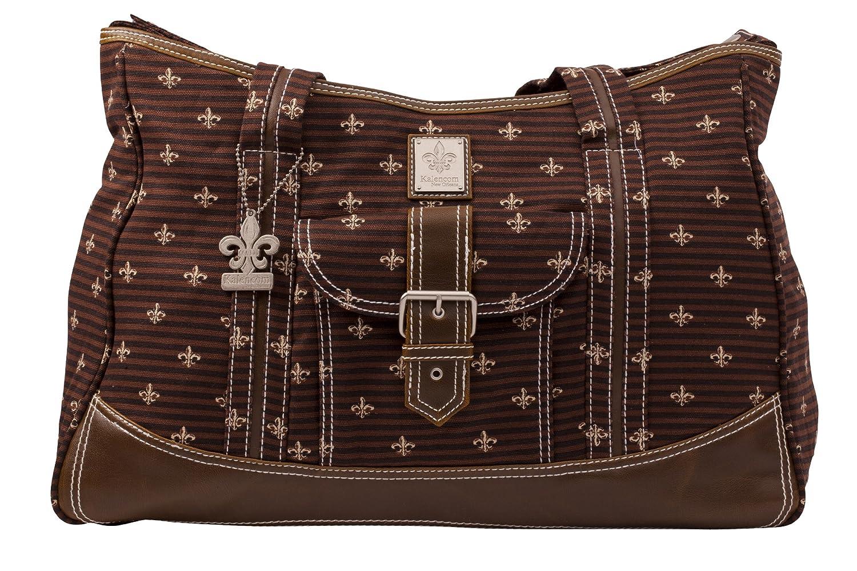 【ポイント10倍】 Kalencom Fashion Diaper Bag, Weekender Changing Changing Bag, Nappy Bag, Mommy De Bag, Canvas Bag, Weekender Bag (Fleur De Lis Chocolate) B0014JF8GW, ヒサイシ:68d7e934 --- hohpartnership-com.access.secure-ssl-servers.biz