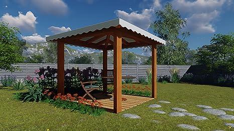 Illuminazione gazebo legno giardino protezioneazienda
