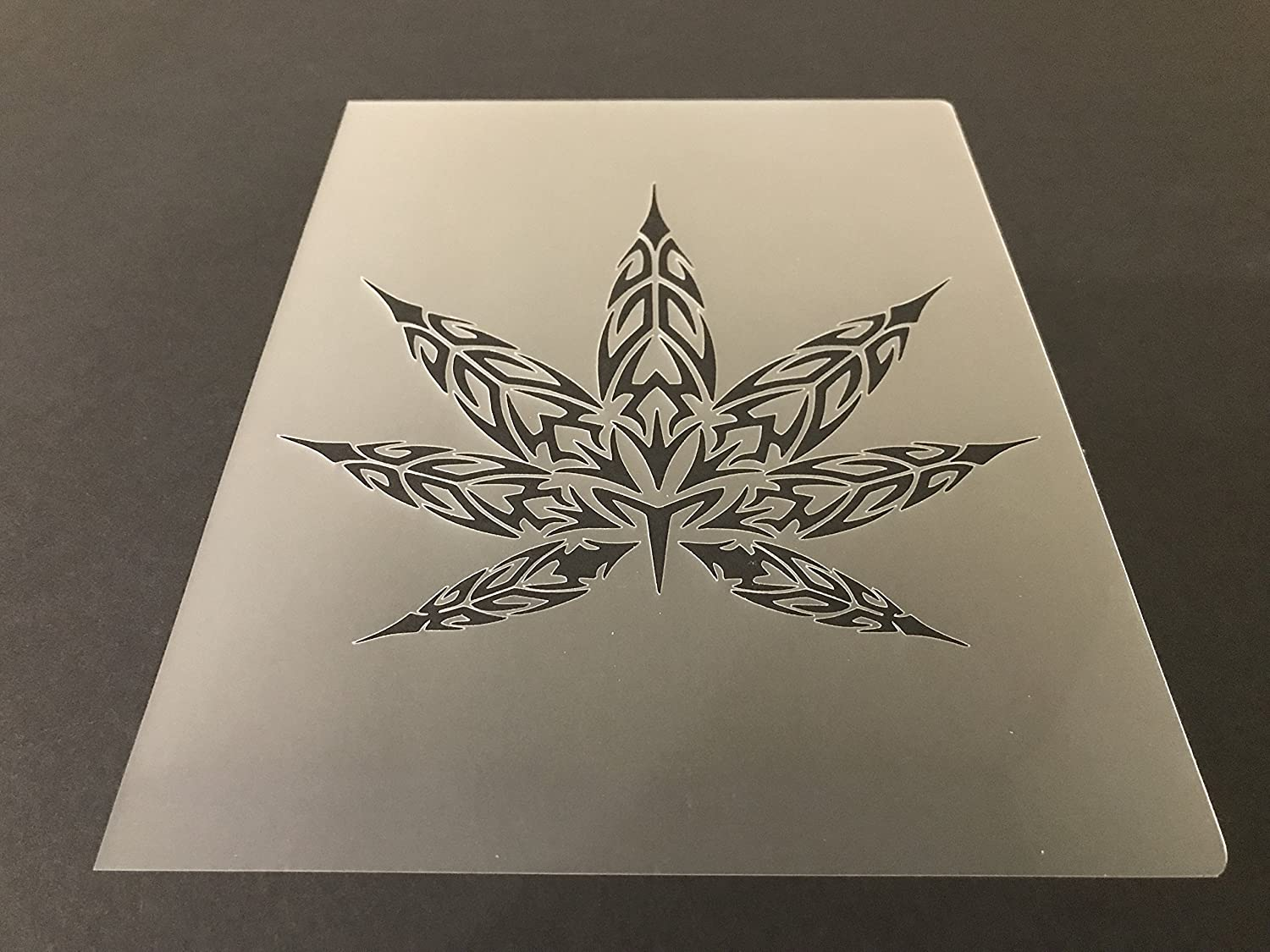 Pot leaf Marijuana Weed Cannabis Stencil #2 Reusable 10 mil Thick 7in x 9in sheet