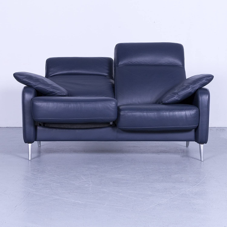 Musterring Leder Sofa Blau Zweisitzer Couch Echtleder Relax Funktion 5610 Sanaa Amazon Co Uk Kitchen Home
