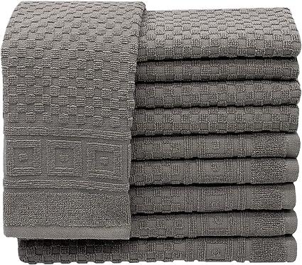 ZOLLNER Set of 10 Guest Towels with Waffle Pattern Approx. 30 x 50 cm Grey: Amazon.de: Küche & Haushalt