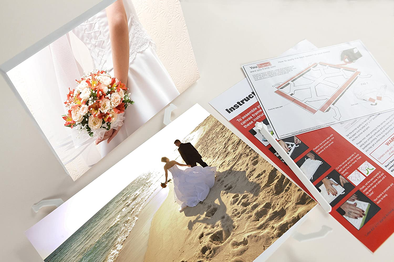 You Frame Photos To Canvas Print And Canvas Your Own Photos Fun Easy To Use Triple Pack Amazon Co Uk Office Products
