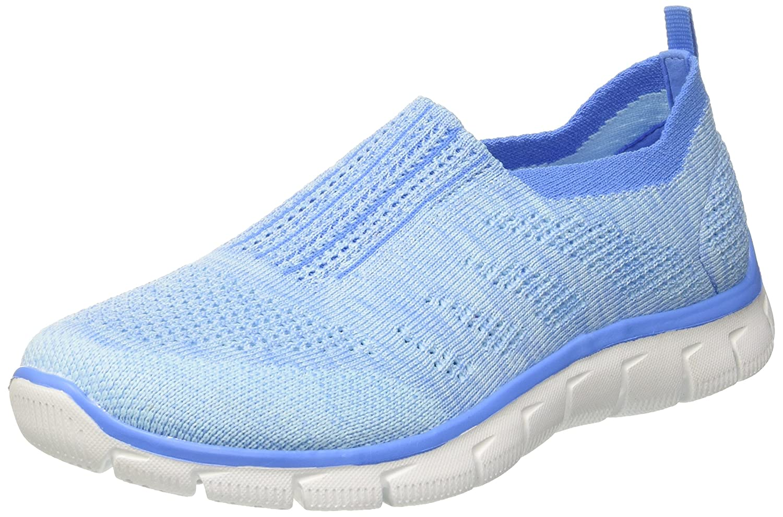 Skechers Empire-Inside Look, Zapatillas para Mujer 37 EU Azul (Ltbl)