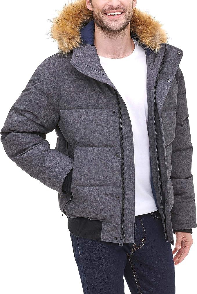 Tommy Hilfiger 汤米希尔费格 大毛领 男式连帽保暖外套 3.4折$109.99 多色可选 海淘转运到手约¥859
