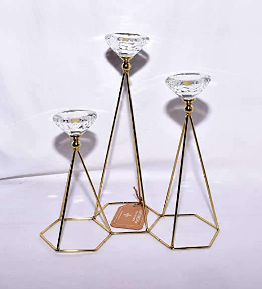 Free Shipping Brand New 2 Piece Mini Hexagon Shaped Sun And Moon Candle Set