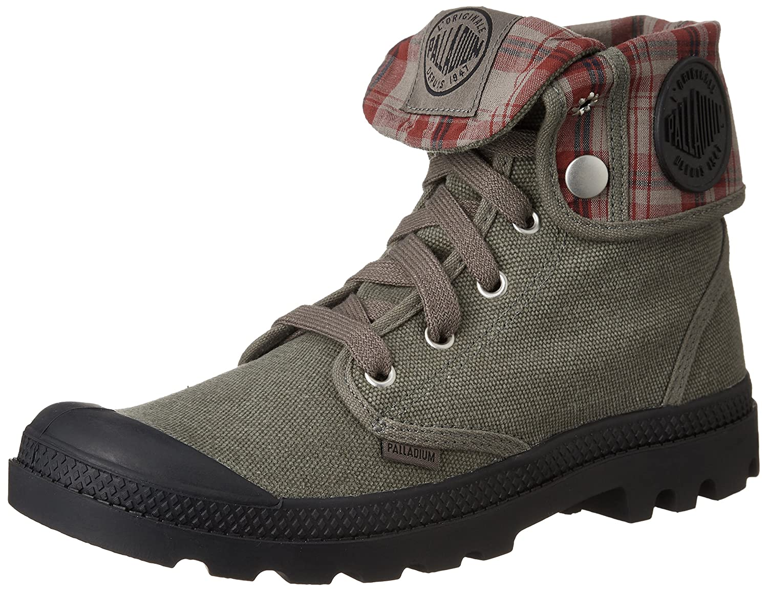 Stonewash Metal Palladium Men's Baggy Canvas Lace-Up Boot