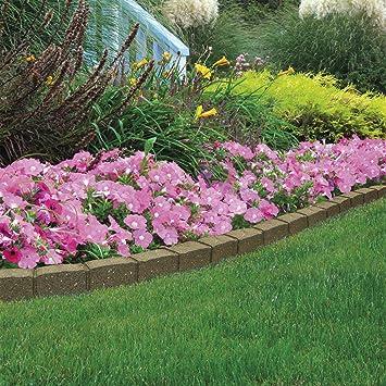 Garden Gear Garden Border Flexible Edging Stone Effect Eco Friendly  Recycled Rubber (1 x 120cm, Earth)