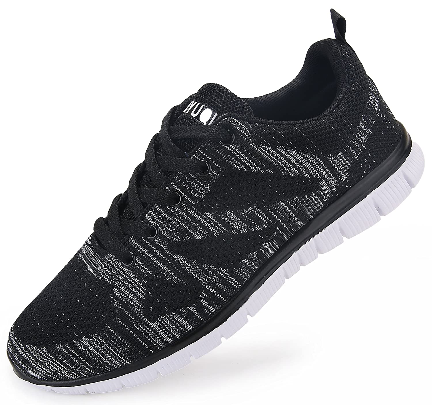 newest a62c5 6c136 Vibdiv Men s Trainers Casual Lightweight Breathability Comfortable Lace-Up  Leisure Gym Shoes  Amazon.co.uk  Shoes   Bags