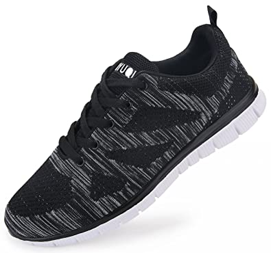 1e30bcaeef3 Vibdiv Men s Running Shoes Lightweight Lace-Up Trainers  Amazon.co ...